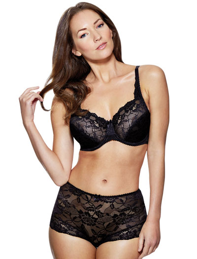 Charnos Rosalind Full Cup Underwire Bra 116501 - Black