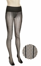 Commando Dig-Free Luxury Sexy Stripes Legwear HSNT - Black