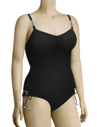 Curvy Kate Jetset Tankini Top CS1606 - Black