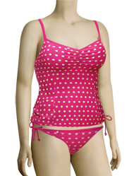 Curvy Kate Seashell Tankini Top CS1306 - Sorbet
