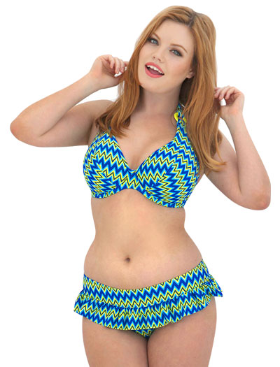 Curvy Kate Shockwave Halterneck Bikini Top CS1221 - Electric Shock
