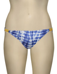 Eda Aruba Classic Brief w/ Gold Snake Sliders ES107-29/1 - White / Blue