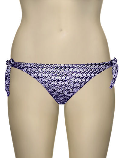 Eda Retro Print Tie Bikini Brief ESE21-1B - Purple