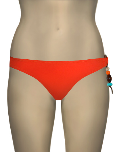 Eda Sevilla Classic Brief With Ring & Bead Detail ES107-23 - Tangerine