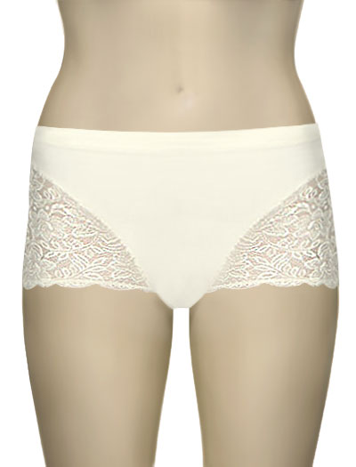 Elila Cheeky Stretch Lace Bottom 3311 - Ivory