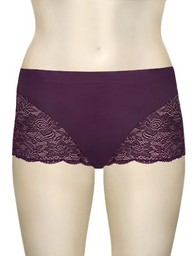 Elila Cheeky Stretch Lace Bottom 3311 - Plum