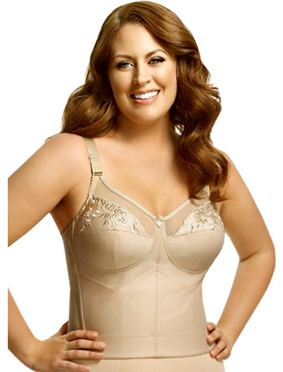 Elila Embroidered Soft Cup Longline 5001 - Nude