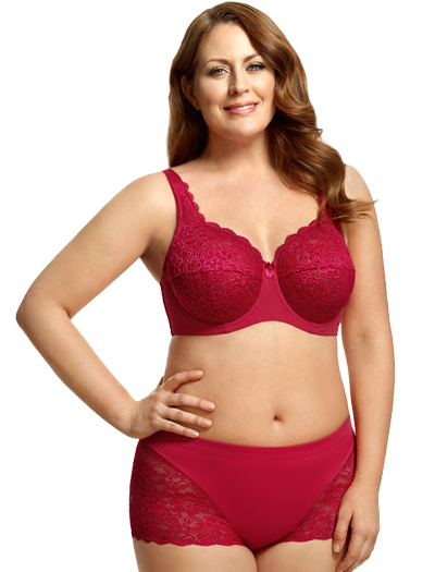 Elila Full Coverage Stretch Lace Underwire Bra 2311 - Red