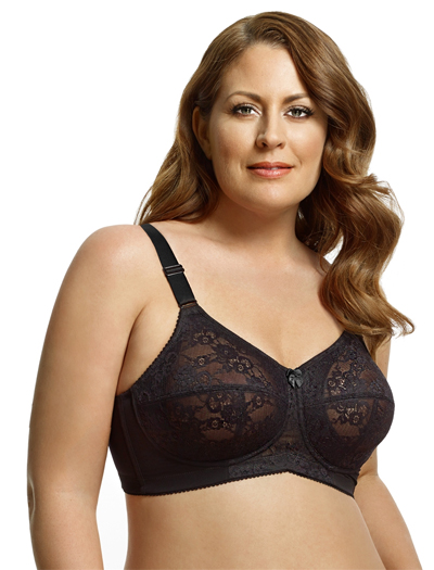Elila Lace Soft Cup Bra 1303 - Black