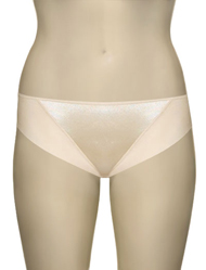 Elila Microfiber and Satin Panty 3307 - Cream