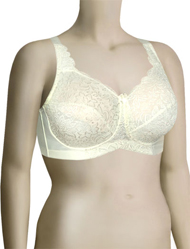 Elila Stretch Lace Soft Cup Bra 1607 - Ivory