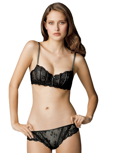 elle macpherson dentelle underwire bra e75 261 in jet pewter. Black Bedroom Furniture Sets. Home Design Ideas