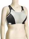 Glamorise Double Layer Custom Control Sports Bra 1166 - Black / Gray