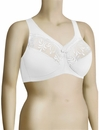 Glamorise Embroidered MagicLift Full Figure Soft Cup Bra 1016 - White