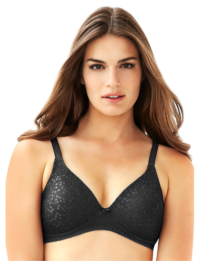 Glamorise The Perfect A Padded & Seamless Soft Cup Bra 3010 - Black