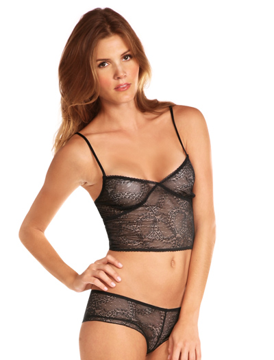 Honeydew At The Ballet Mesh Lace Cropped Camisole Bralette 20040 - Willow