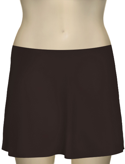 Karla Colletto Basic A-Line Skirt BA-C11 - Chocolate