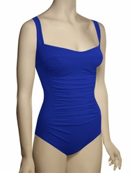 Karla Colletto Basic One Piece Square Neck Silent UW Swimsuit BA-D70 - Cobalt