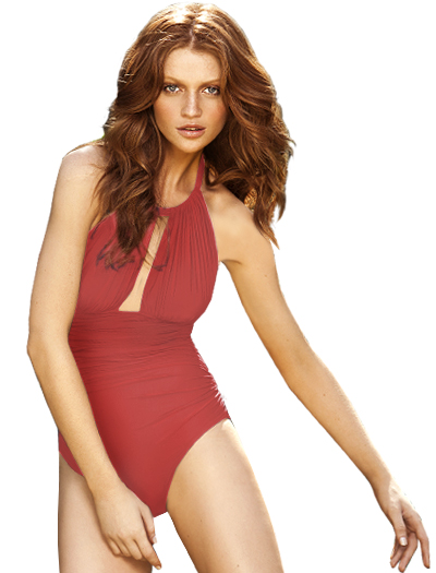 Lenny Basic New Touch Ruched Halter Maillot Swimsuit 241 - Kyr