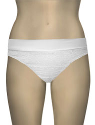 Lise Charmel Antigel La Beach Guipure Full Bikini Bottom FBA0305 - Crochet Blanc