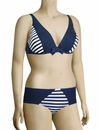 Lise Charmel Antigel La Jolie Baigneuse Triangle Bikini Top FBA3275 - Stripes Bleu