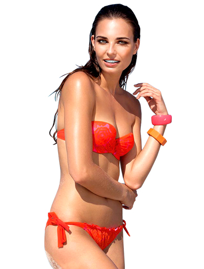 Lise Charmel Antigel La Miss Dentelle Bandeau Bikini FBA7106 - Orange