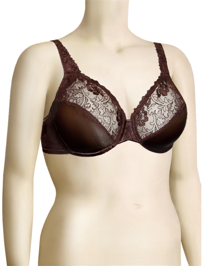 Lunaire Emma Sating Glamour Underwired Bra 50821 - Java
