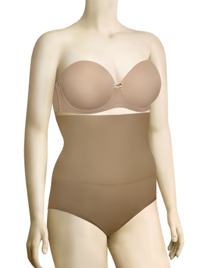Lunaire Instant Shaping High Waist Control Brief (Plus) 3253HL - Nude
