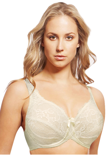 Lunaire London Full Coverage Lace Bra 12711 - Ivory