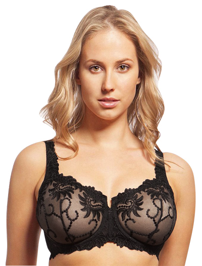 Lunaire Sevilla Embroidered Balconette Underwire Bra 14011 - Black