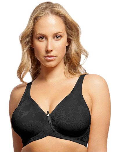 Lunaire Versailles Full Coverage Seamless Underwire Bra 13211 - Black