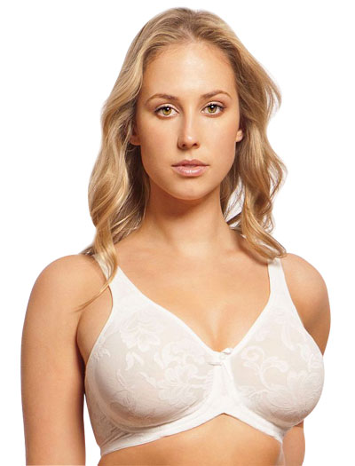 Lunaire Versailles Full Coverage Seamless Wire Free Bra 13214 - White