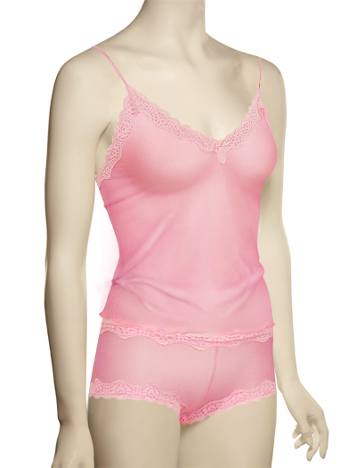 Mary Green Silk Gauze Camisole LT10 - Pink Panther