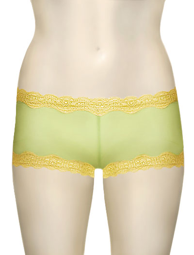 Mary Green Silk Gauze Hip Hugger Boyshort LT8 - Pistachio/Sun