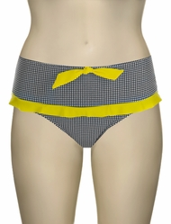 Miss Mandalay Bardot Retro Brief BARD02GRB - Black / Yellow