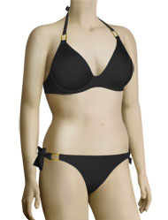 Miss Mandalay Boudoir Beach UW Halter Bikini Top BOU01BUH - Black