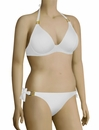 Miss Mandalay Boudoir Beach UW Halter Bikini Top BOU01WHP - Ice White