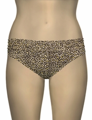 Miss Mandalay Leopard Ruffle Bikini Brief LEPR02YBB - Yellow Print