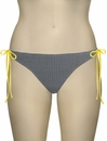 Miss Mandalay Bardot Tieside Brief BARD03GTS - Black / Yellow