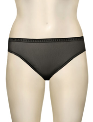 OnGossamer Mesh Hi-Cut Brief 3012 - Black
