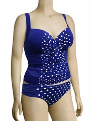 Panache Analise Underwire Molded Balconnet Tankini Top SW0931 - Cobalt / White