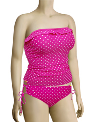 Panache Cleo Betty Underwire Tankini Top CW0031 - Pink Spot