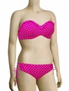 Panache Cleo Betty Underwire Frilled Bandeau Bikini Top CW0033 - Pink Spot