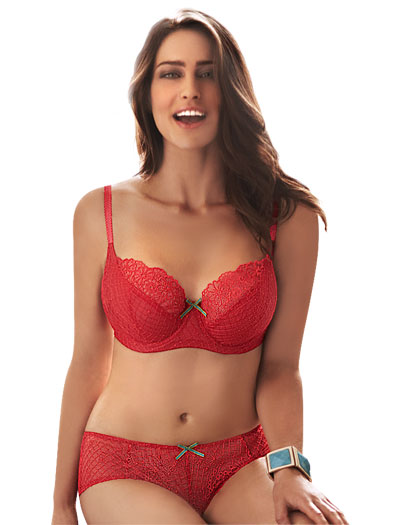 Panache Cleo Eleanor Balconnet Bra 6181 - Fiesta Red