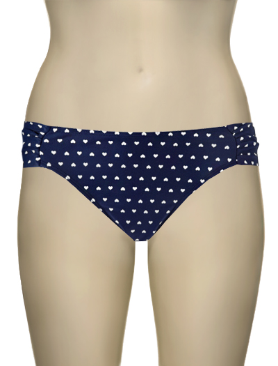 Panache Cleo Leena Gathered Swim Bottom CW0166 - Heart Print