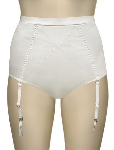Panache Harlequin Deity High Waisted Brief 6734 - Ivory