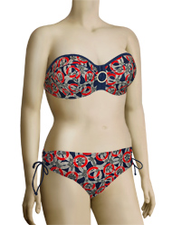 Panache Nancy Underwire Bandeau Bikini Top SW0773 - Nautical Print