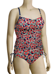 Panache Nancy Underwire Tankini Top SW0771 - Nautical Print