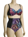 Panache Tallulah Underwire Balconnet Bikini Top SW0742 - Feather Print