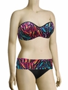 Panache Tallulah Underwire Bandeau Bikini Top SW0743 - Feather Print